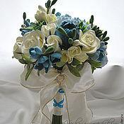 Свадебный салон ручной работы. Ярмарка Мастеров - ручная работа Букет невесты с маками и фрезией. Handmade.