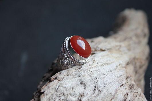 """Кольца ручной работы. Ярмарка Мастеров - ручная работа. Купить Кольцо с Сердоликом """"Рыжик"""" серебряное покрытие. Handmade. Рыжий"""