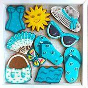 Сувениры и подарки handmade. Livemaster - original item Set of gingerbread Beach collection. a gift to a friend.. Handmade.