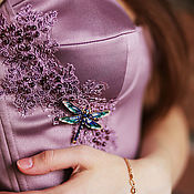 Одежда ручной работы. Ярмарка Мастеров - ручная работа Пепельно-розовое платье. Handmade.