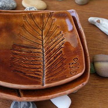 """Посуда ручной работы. Ярмарка Мастеров - ручная работа Мини-блюдца """"Мимоза"""" 2 шт. Handmade."""