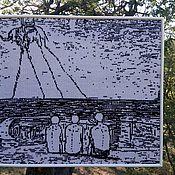 """Картины и панно ручной работы. Ярмарка Мастеров - ручная работа Дейнека плюс Дали """"Будущие лётчики"""". Handmade."""