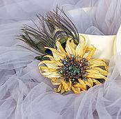 Украшения handmade. Livemaster - original item Sunflower Borsolino. Handmade.
