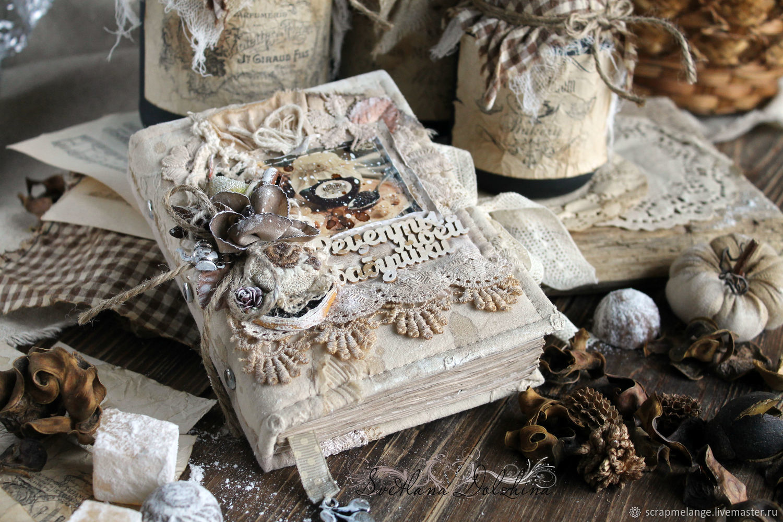 Recipe book vintage beige lace flowers aroma, Recipe books, Tyumen,  Фото №1