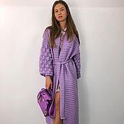 Одежда handmade. Livemaster - original item Purple cardigan.. Handmade.
