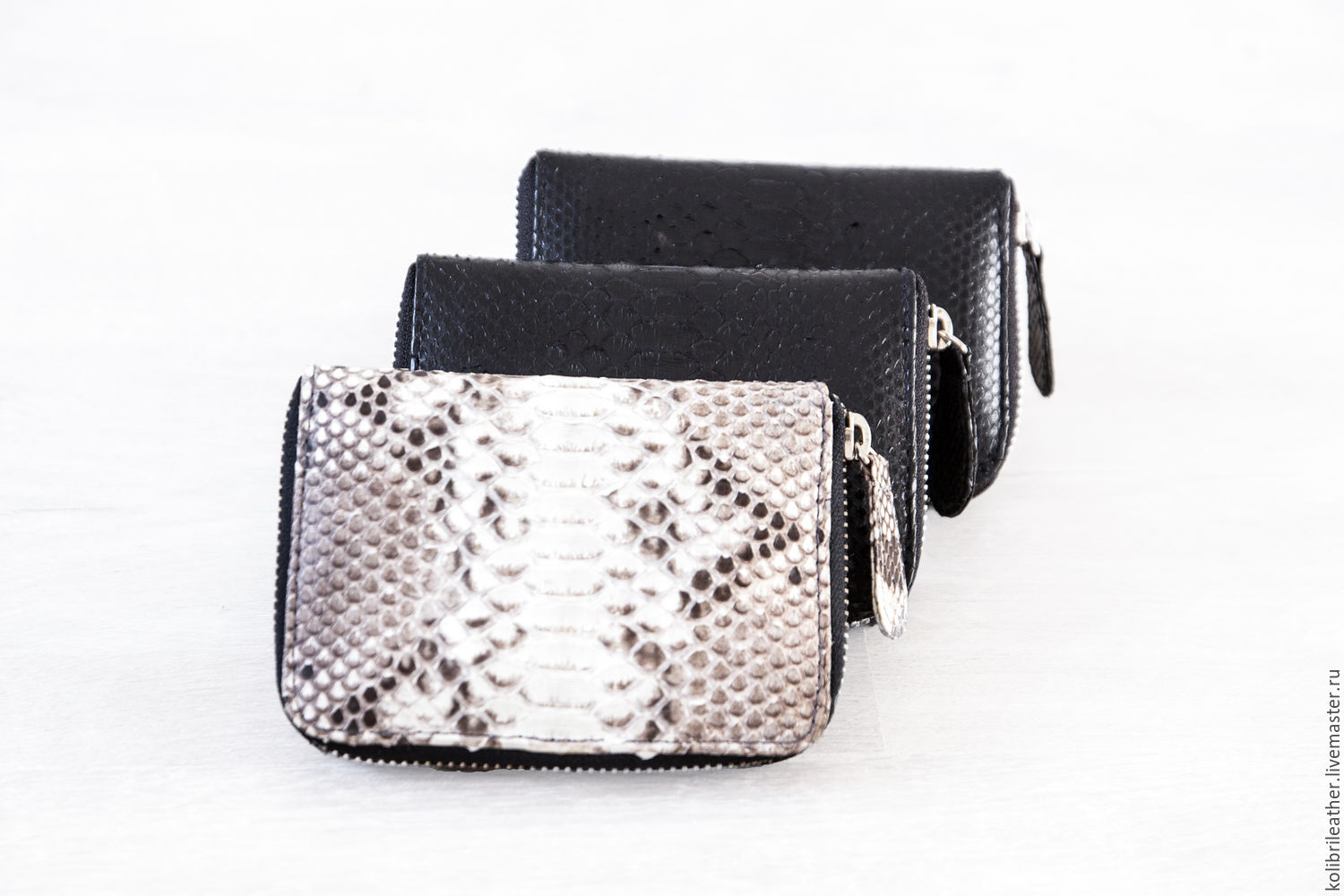 Wallets & Business Card Holders handmade. Livemaster - handmade. Buy Wallet genuine Python skin Lilis .Leather purse from reptiles.