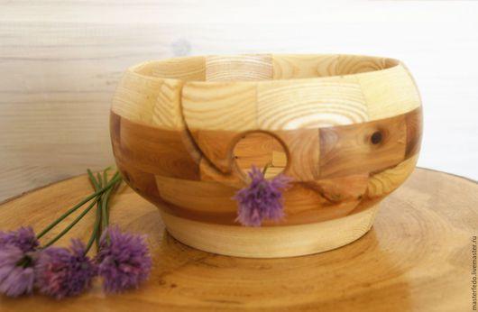 Ваза клубочница, клубочница деревянная, клубочница,   деревянная клубочница, для вязальщицы, для вязания,