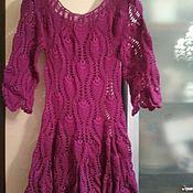 Одежда ручной работы. Ярмарка Мастеров - ручная работа платье ажурное крючком. Handmade.