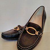 Винтаж ручной работы. Ярмарка Мастеров - ручная работа Мокасины Лоуферы туфли балетки из натуральной кожи на 37 размер. Handmade.
