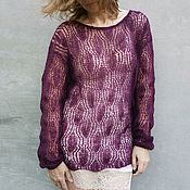 Одежда handmade. Livemaster - original item Gossamer sweater Thin mohair sweater. Handmade.