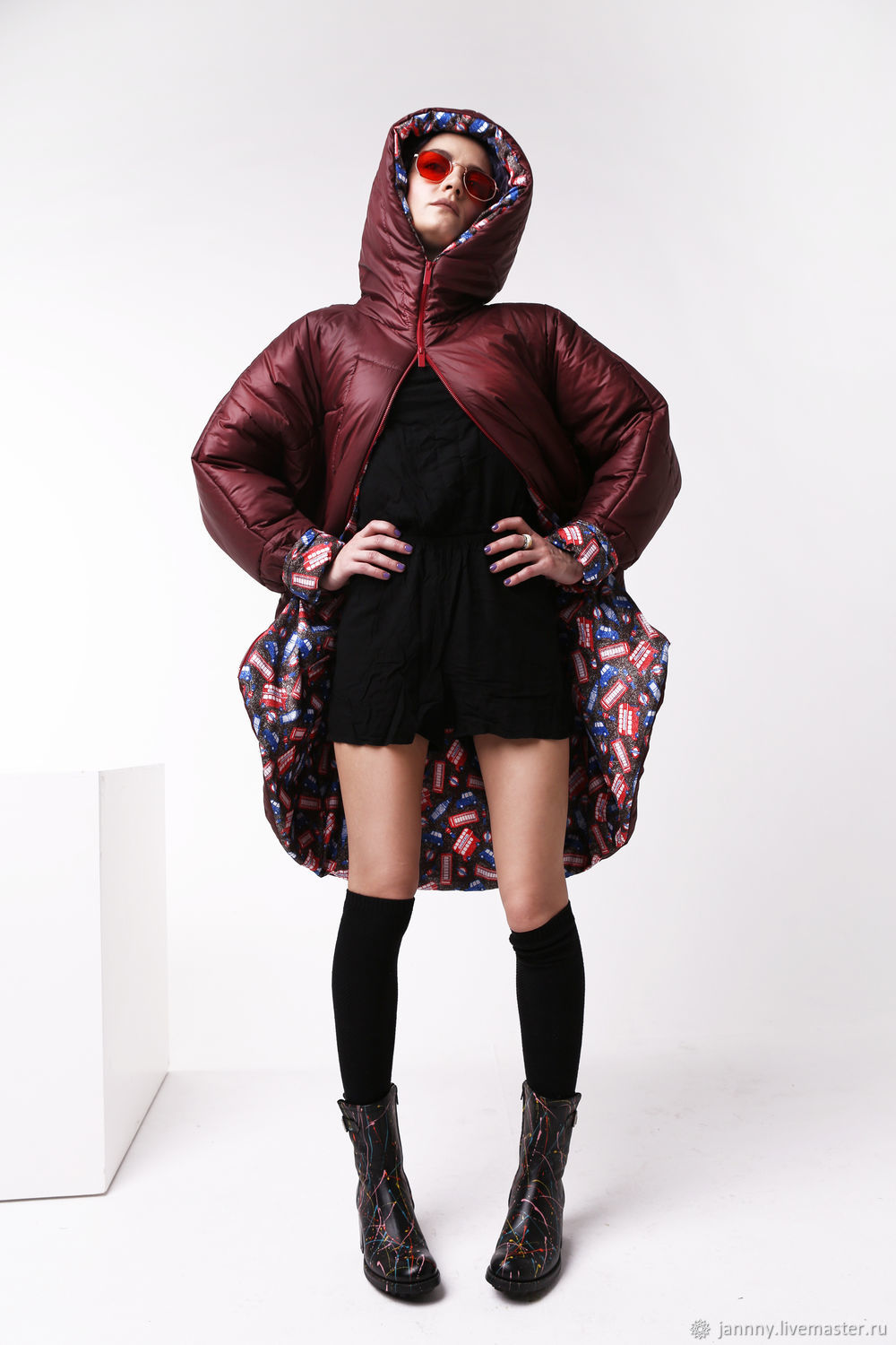 Women's zip-up jacket 'Bordeaux and England', Outerwear Jackets, Moscow,  Фото №1
