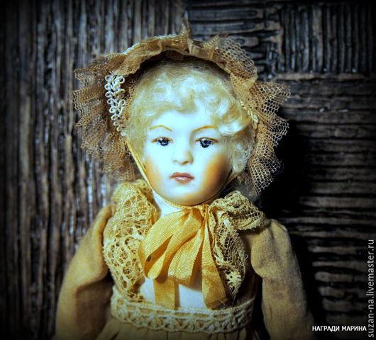 """Коллекционные куклы ручной работы. Ярмарка Мастеров - ручная работа. Купить фарфоровая кукла"""" Алла"""". Handmade. Бежевый, кукла девочка"""