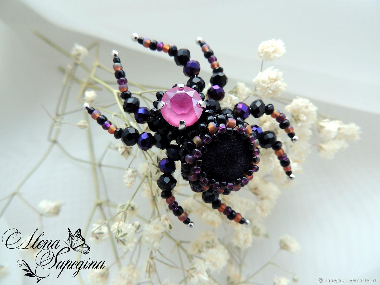 Brooch ' Spider'. Art. B-148, Brooches, Novosibirsk,  Фото №1