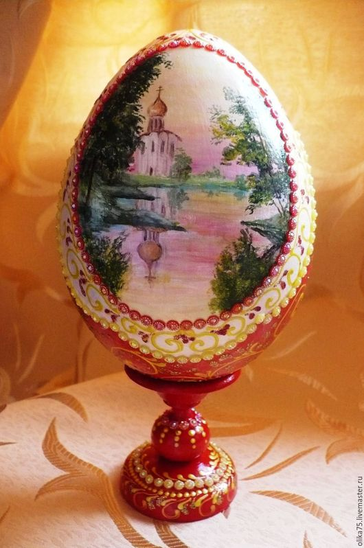 Подарки на Пасху ручной работы. Ярмарка Мастеров - ручная работа. Купить Яйцо пасхальное с пейзажем. Handmade. Пасха, красивый подарок