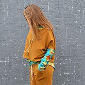 Одежда ручной работы. Ярмарка Мастеров - ручная работа Комплект для спорта, танцев, отдыха, путешествий СВОБОДА (горчица). Handmade.