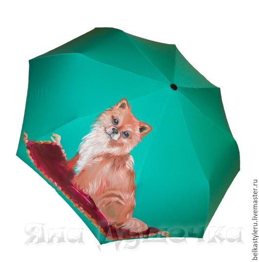 """Зонты ручной работы. Ярмарка Мастеров - ручная работа. Купить Зонт с ручной росписью """"Чихуахуа"""".. Handmade. Зонт, зонт с рисунком"""