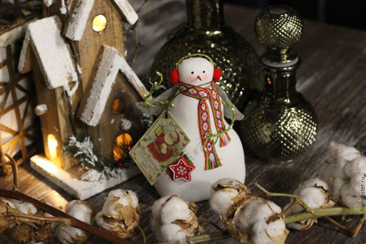 Куклы Тильды ручной работы. Ярмарка Мастеров - ручная работа. Купить Тильда-снеговичок. Handmade. Белый, тильда, тильда снеговик