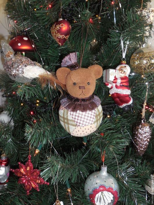 """Новый год 2017 ручной работы. Ярмарка Мастеров - ручная работа. Купить PDF мастер класс """"Новогодняя ёлочная игрушка-Мишка"""". Handmade."""