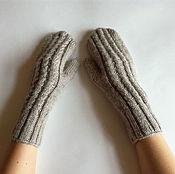 Аксессуары handmade. Livemaster - original item Knitted wool mittens. Handmade.