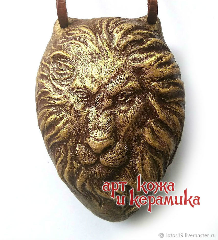 Lion. Hand-made clay ocarina (tin whistle). Musical instrument, Jew\'s Harp, Krasnoyarsk,  Фото №1