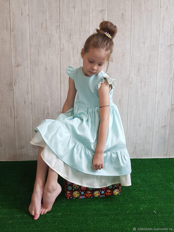 Платье бирюзово- молочное, Платья, Дмитров,  Фото №1