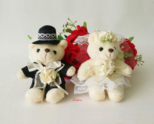 """Другие виды рукоделия ручной работы. Ярмарка Мастеров - ручная работа. Купить Мишки """"Жених и Невеста"""", пара И10. Handmade."""