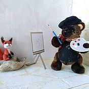 Мягкие игрушки ручной работы. Ярмарка Мастеров - ручная работа Медвежонок Тимошка из искусственного меха, тедди. Handmade.