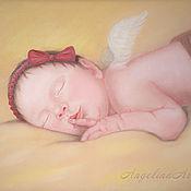Ангел хранитель снов.  Картина маслом.