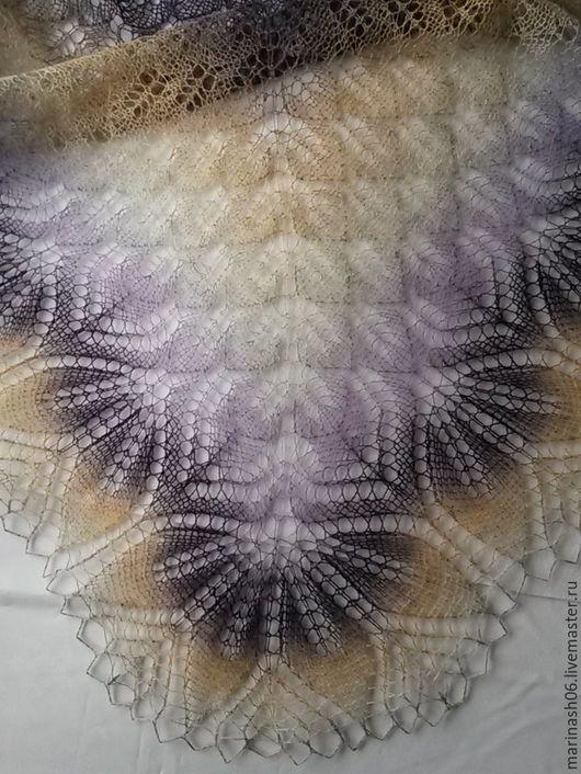 """Шали, палантины ручной работы. Ярмарка Мастеров - ручная работа. Купить Ажурная шаль """"Харуни"""". Handmade. Комбинированный"""