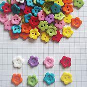 Пуговицы ручной работы. Ярмарка Мастеров - ручная работа Пуговица цветок 11 мм. Handmade.