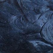 Материалы для творчества ручной работы. Ярмарка Мастеров - ручная работа Вискоза для валяния . Темно -синий 50гр-80р. Handmade.