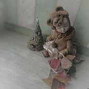 """Куклы и игрушки ручной работы. Ярмарка Мастеров - ручная работа Дедушка Мороз, ну где ты?!"""" тедди-долл. Handmade."""