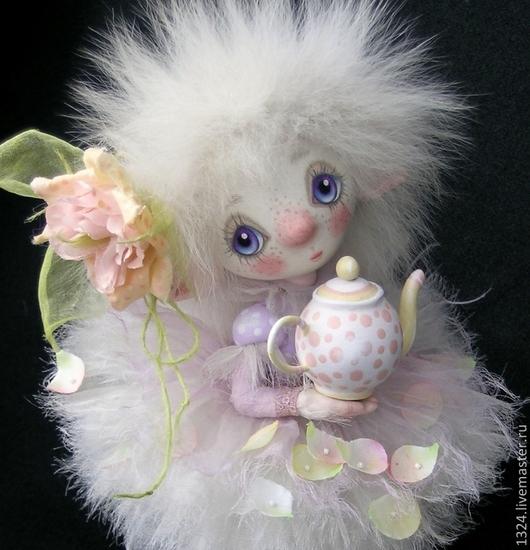 """Коллекционные куклы ручной работы. Ярмарка Мастеров - ручная работа. Купить Кукла """"Чайная Рози """". Handmade. Бледно-сиреневый"""