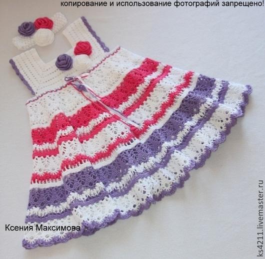 Одежда для девочек, ручной работы. Ярмарка Мастеров - ручная работа. Купить платье Букет Роз  сарафан. Handmade. Белый
