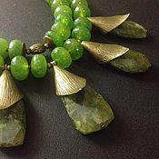 """Украшения ручной работы. Ярмарка Мастеров - ручная работа Колье """"Зелёный горошек"""" с гроссуляром. Handmade."""
