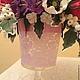 стеклянная ваза,ручная роспись.