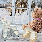 Ugg boots handmade. Livemaster - original item Uggs: Chuni baby sheepskin. Handmade.