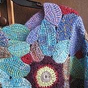 "Одежда ручной работы. Ярмарка Мастеров - ручная работа Пуловер"" Зимние сны о лете"". Handmade."