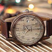 Украшения handmade. Livemaster - original item Wooden clock, mens wrist watches, walnut, 04ad4035ww2. Handmade.