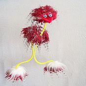 Мягкие игрушки ручной работы. Ярмарка Мастеров - ручная работа Развивающая  игрушка страус-марионетка Бирюзок  на веревочках. Handmade.