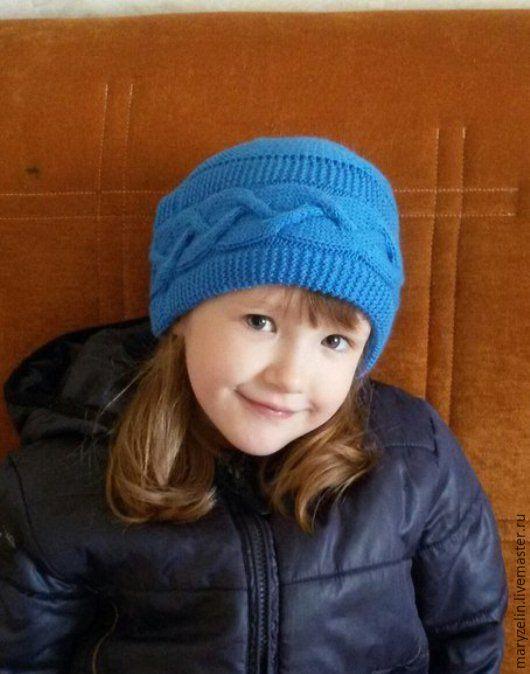 шапочка для девочки, пряжа высокообъемная: 30% меринос, 70% акрил