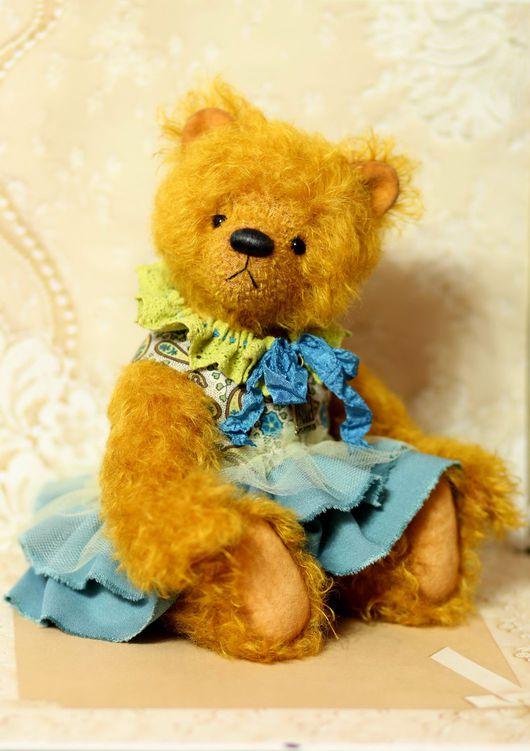 Мишки Тедди ручной работы. Ярмарка Мастеров - ручная работа. Купить Мишка Тедди Боня 32 см. Handmade. Оранжевый