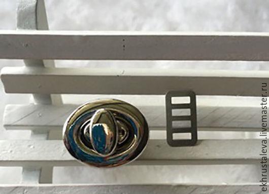 Шитье ручной работы. Ярмарка Мастеров - ручная работа. Купить Поворотный замок, серебро. Handmade. Серебряный, материалы для творчества