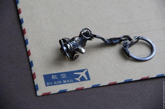 """Брелоки ручной работы. Ярмарка Мастеров - ручная работа. Купить брелок для ключей """"Самолетик"""". Handmade. Серебряный, самолетик, брелок"""