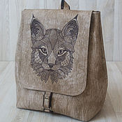Сумки и аксессуары handmade. Livemaster - original item Backpack Lynx. Handmade.