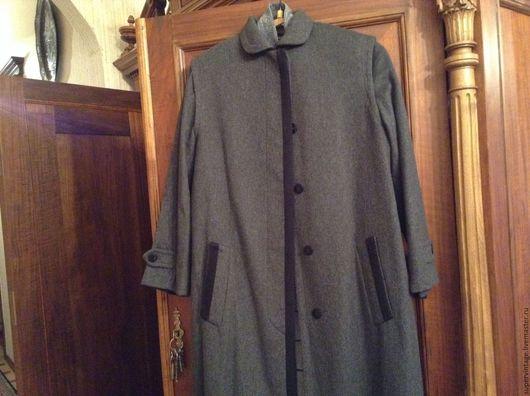 Одежда. Ярмарка Мастеров - ручная работа. Купить FERRE,1-я линия, пальто демисезонное, НОВОЕ,оригинал. Handmade. Темно-серый
