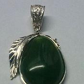 Украшения handmade. Livemaster - original item pendant jade. Handmade.