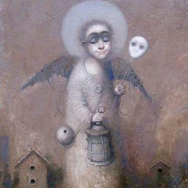 Картины и панно ручной работы. Ярмарка Мастеров - ручная работа Авторская картина маслом «Ангел» 80/50см. Handmade.