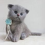 Куклы и игрушки ручной работы. Ярмарка Мастеров - ручная работа котенок Бусинка. Handmade.