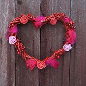 """Подарки к праздникам ручной работы. Ярмарка Мастеров - ручная работа Венок-сердце из лозы винограда """"Страстная любовь"""". Handmade."""